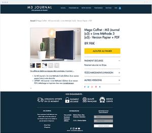 M3 Journal eCommerce website.