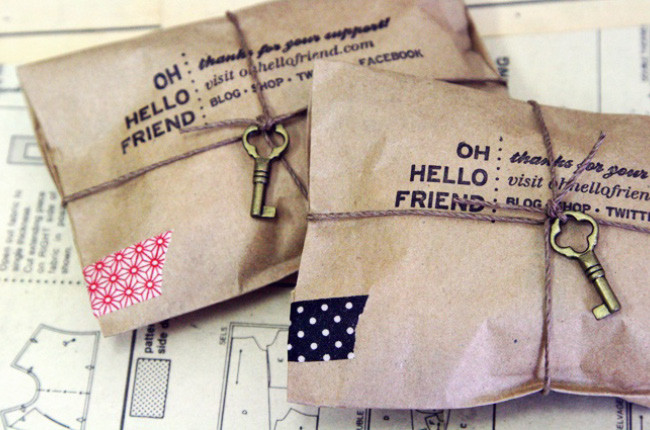 Personal greeting product packaging example.