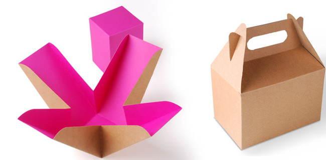 Simple box product packaging example.
