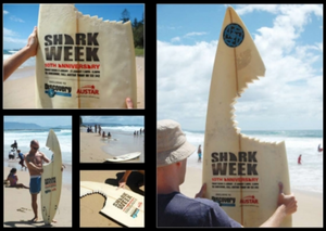 Guerilla marketing example for Discovery Channel's Shark Week