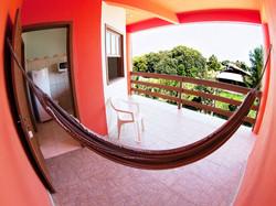 Rede do quarto com varanda