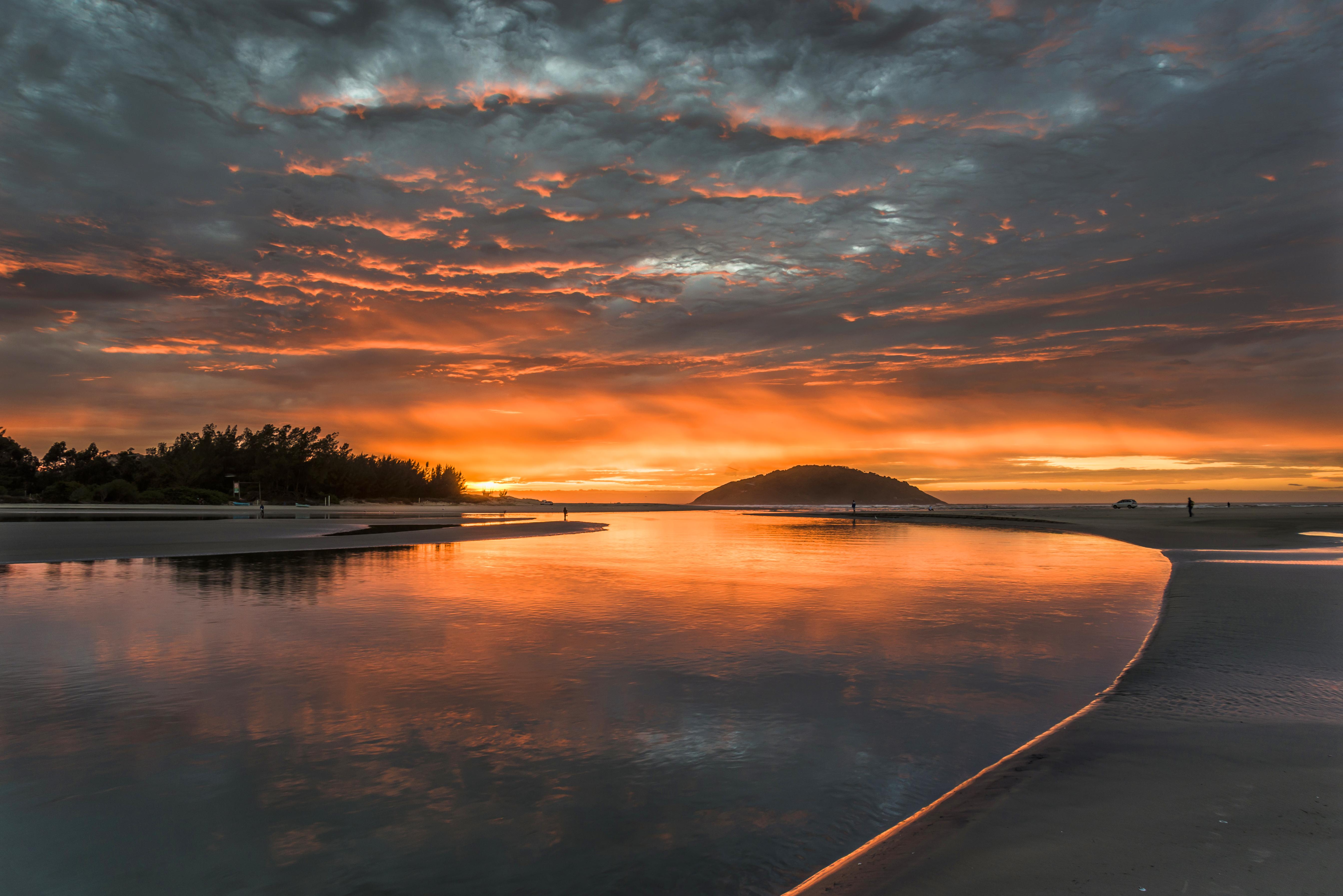 Barra de Ibiraquera - Nascer do sol