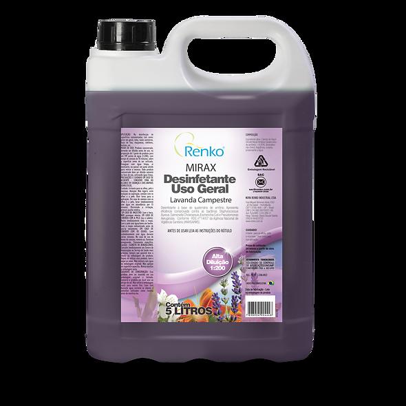 MIRAX Lavanda Desinfetante 5L Diluição 1:200
