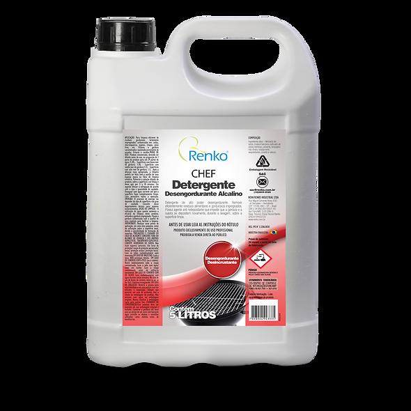Detergente Desengordurante CHEF ALCALINO 5L Diluição 1:30