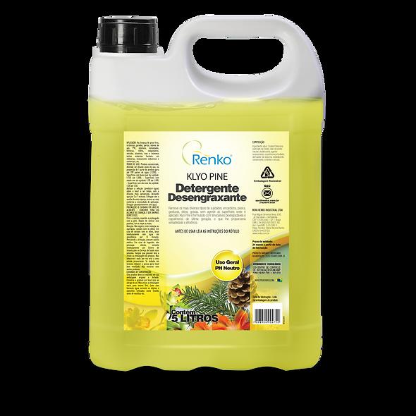 Detergente Desengraxante KLYO PINE 5L Diluição 1:200