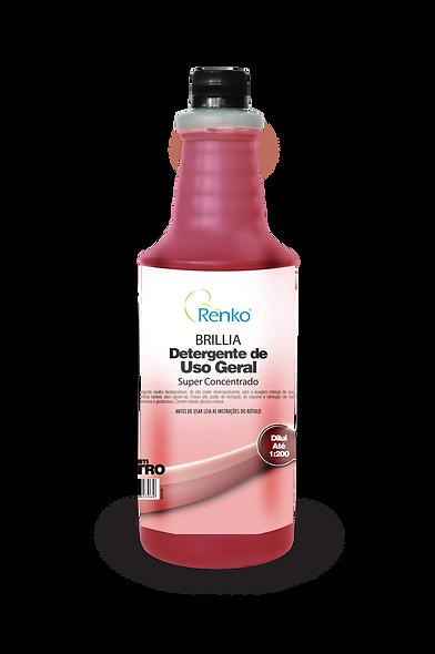Detergente BRILLIA Super Concentrado 1L Diluição 1:200