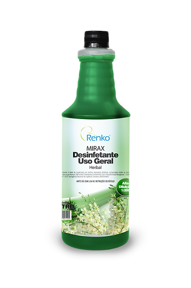 MIRAX Herbal Desinfetante 1L Diluição 1:200