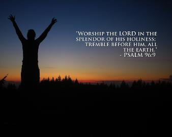 Man worshiping the Lord