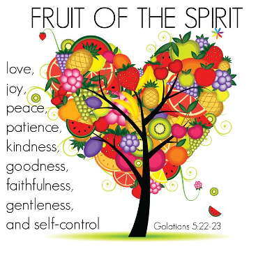 image showing tree with the Fruits of the Spirit