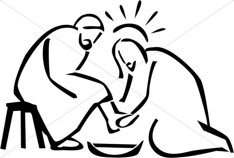 Jesus washing disciple's feet