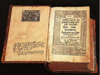 Bible book printed by Guttneberg in 1450