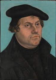 Portrait of Martin Luther with hat