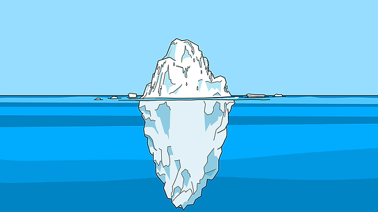 Iceberg. Character is the base, personality is the tip
