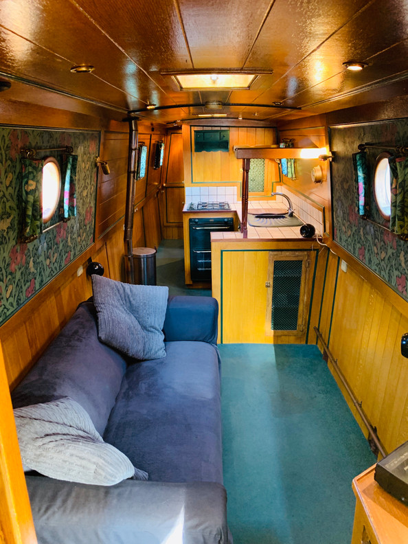 Narrowboat Ballinger - Saloon From Cratch