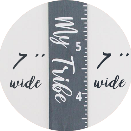 "7"" WIDE - Life Size Growth Chart"