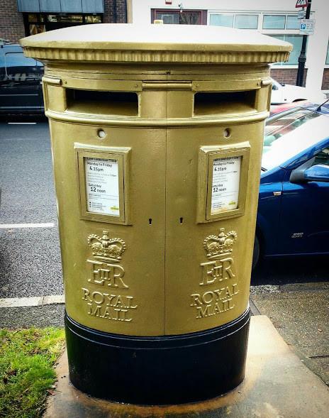 My beautiful golden postbox still looking fabulous