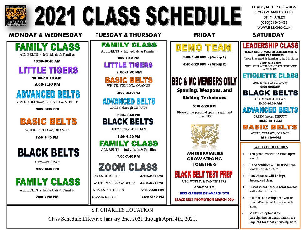Cho - 2021 JAN-APR class schedule STC &