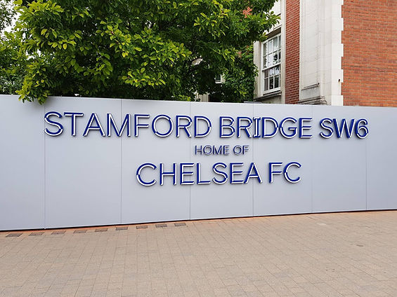 CFC, Chelsea FC, Chelsea FC Sign, Chelsea FC Stadium Sign
