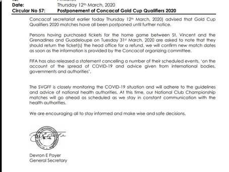 Concacaf Gold Cup Qualifiers 2020 Postpones.
