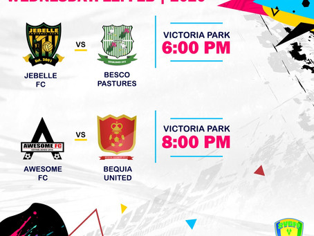 BEQUIA UNITED FC VS AWESOME FC