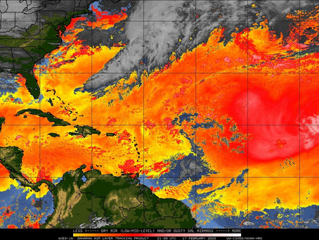 SAHARAN DUST HAZE IS EXPECTED TO INCREASE ACROSS BARBADOS.