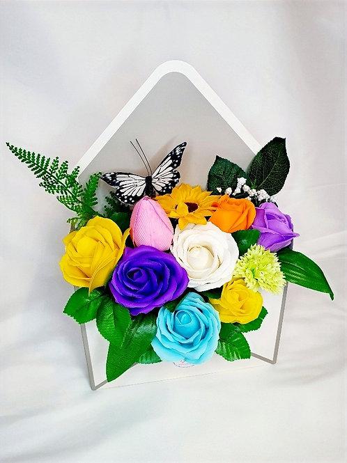 Soap Flower Envelope Gift Box