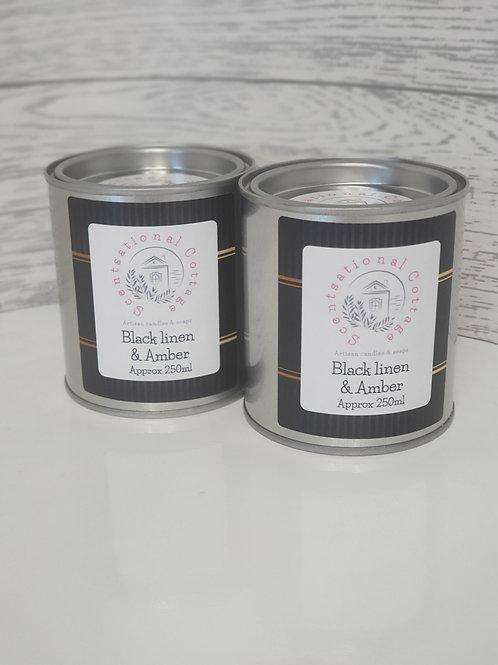 Black Linen & Amber