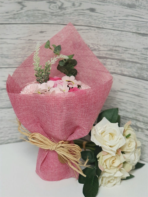 Pink Posy Soap Flower Bouquet