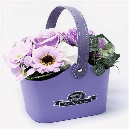 Petite Lavender Flower Basket