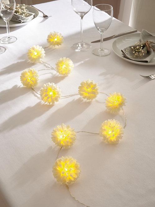 """LED-Lichterkette """"White Flowers"""""""