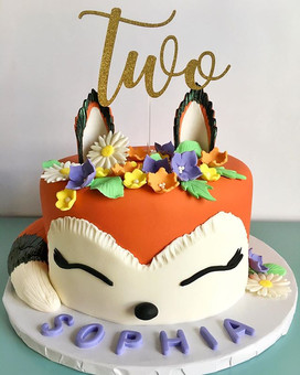 A special birthday cake for an adorable