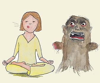 Negative Emotion and Meditation, denial, emotional health, stuck emotion