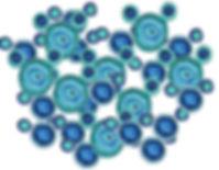 De-structured water molecules