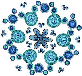 Strcutured water Mandala, Water Mandala