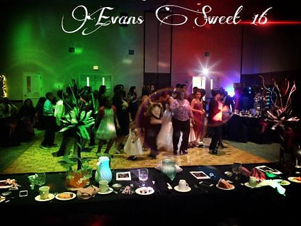Evans's Sweet 16 party