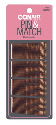 Brown bobby pins - 60 pc