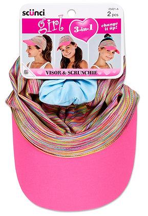 2pc Multiwear Cap with Scrunchie