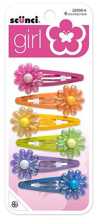 6-Pk Flower Clippies