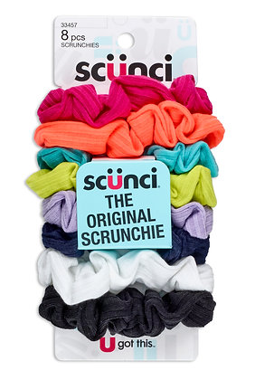8 pk Small Ribbbed Scrunchies
