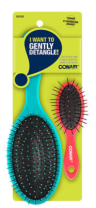 Conair Detangling Cushion & Detangling Mini Cushion Value Pack