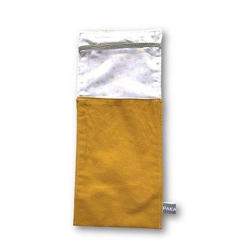 1 NOËL SI DOUX - PETIT MODELE JAUNE&ETOILES OR