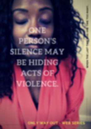 Yellow Cross Portrait Domestic Violence