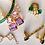 Thumbnail: Emerald Green Bracelet in Rose Gold