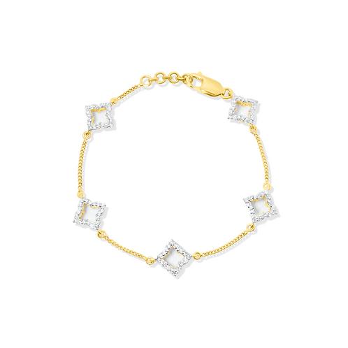 Grandeur Rait Gold Bracelet