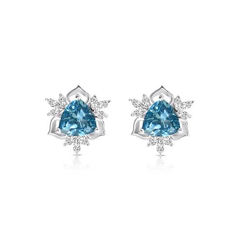 Nizam Blue Topaz Earrings