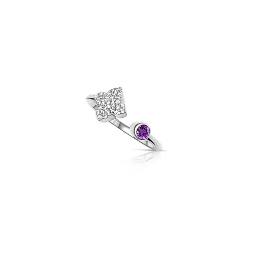 Saira Amethyst Ring