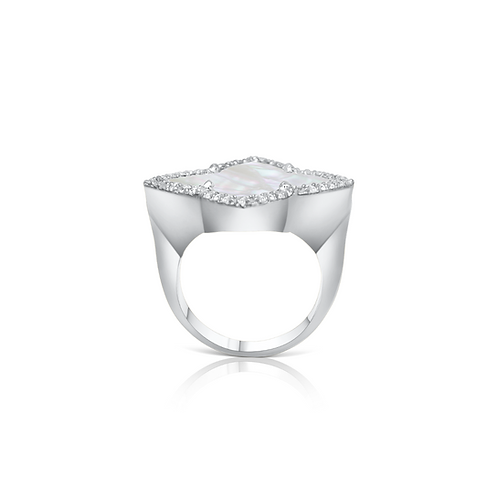 Taj Cocktail Ring Silver