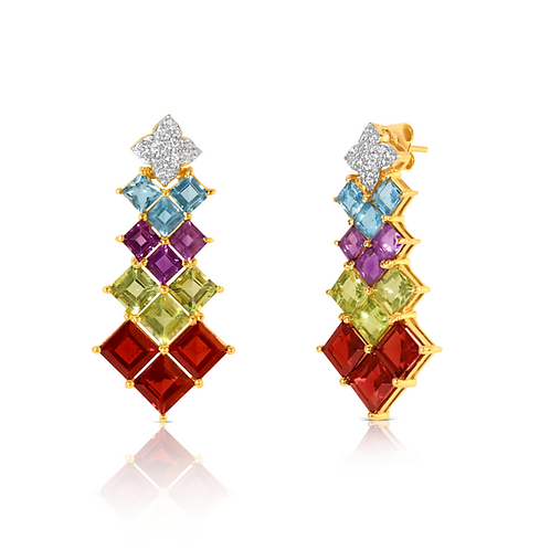 Panna Meena Rainbow Earrings