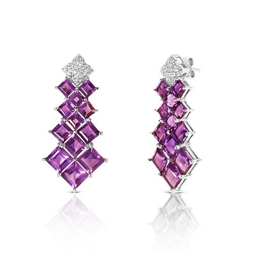 Panna Meena Purple Amethyst Earrings