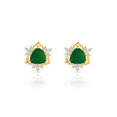 Nizam Green Onyx Earrings